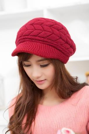 Fahion new autumn and winter warm knitted Hat For Girls