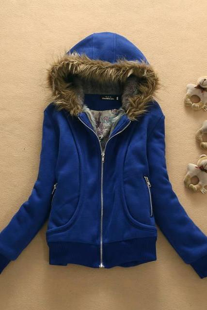 Hat Fur Collar Coat