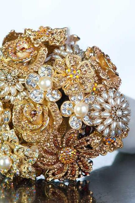 Brooch, Crystal, Feather, or Pearl wedding bouquets and accessories - Deposit and Ordering information
