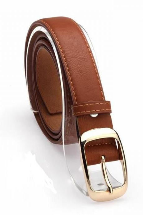 Classic style brown colored woman belt
