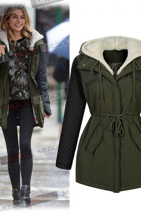 Fashion New Womens Coat Thicken Winter Coat Hoodie Parka Overcoat Jacket Outwear
