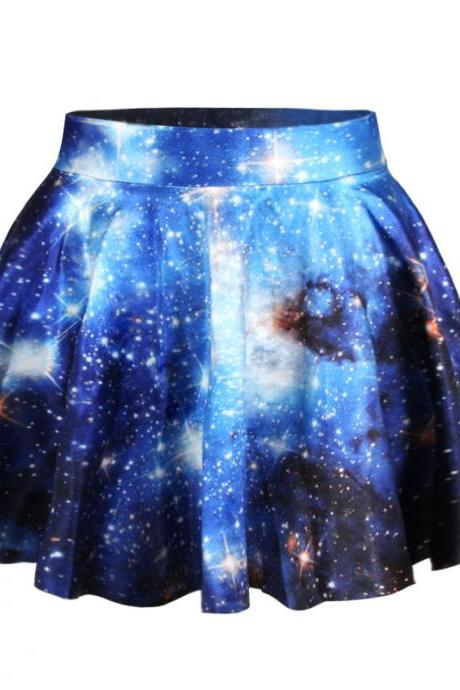 Woman 3D Van Gogh starry night digital printing new skirt