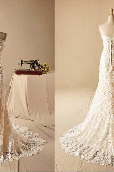 ROMANTIC SWEETHEART VENICE LACE SLIM Lace Wedding Dress Bridal Dress Gown Wedding Gown Bridal Gown Lace Bridal Dress