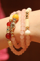 Huang Shuijing female powder multi-layer bracelet bracelet