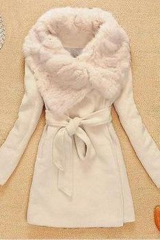 Lambs Wool Coat Slim Jacket