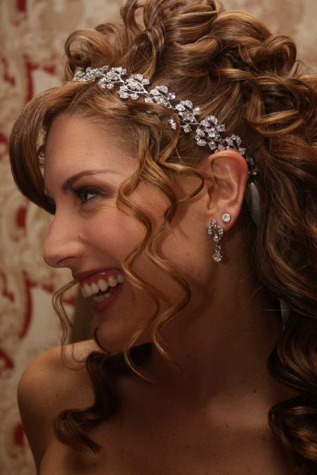 Collette - Crystal Jeweled Ribbon Headband