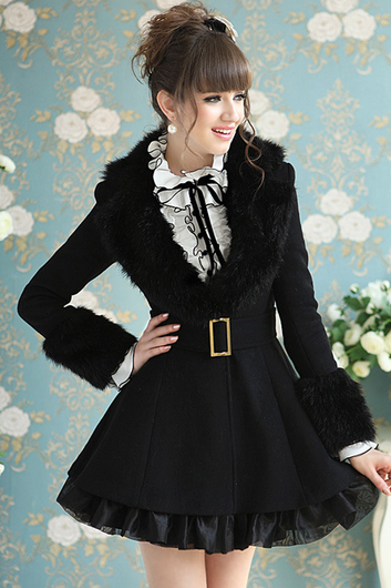 Black cloth coat