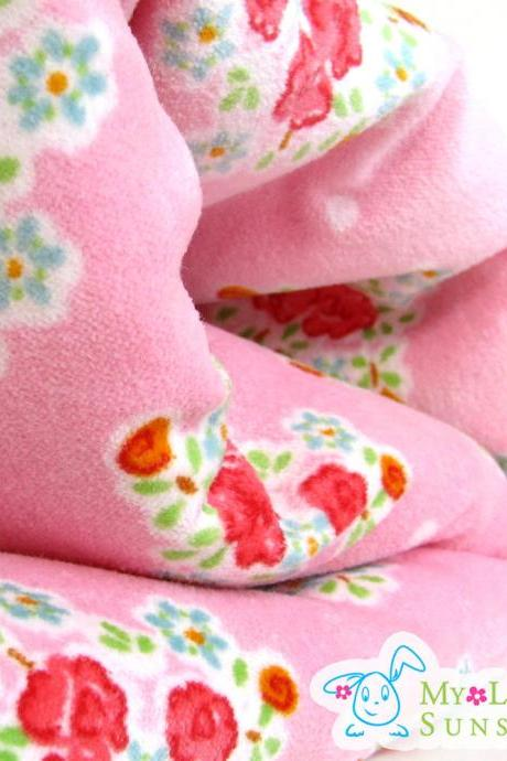 Garden Of Roses Velvet Cotton Fabric Luxurious Baby Blanket