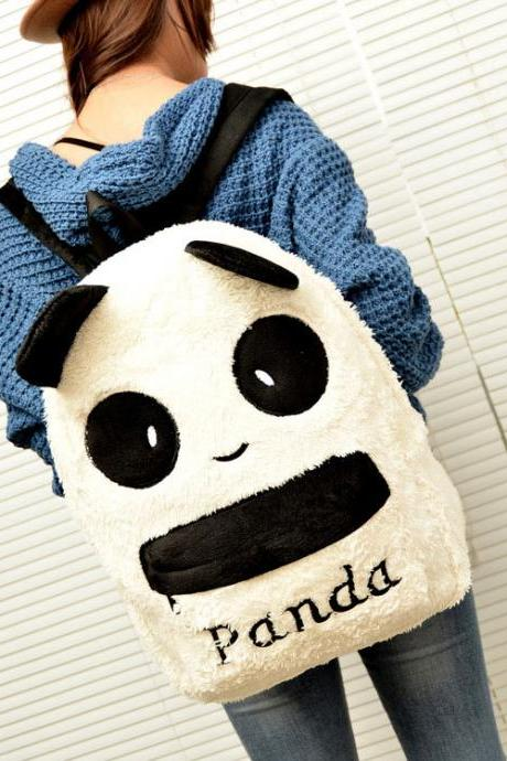 Lovely Cartoon Panda Backpack&Schoolbag