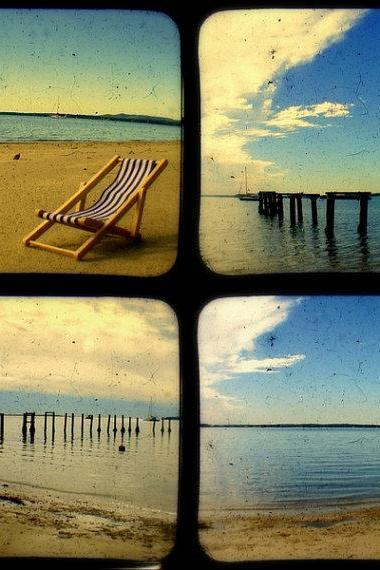 Rustic Beach Photo Set 5x5 TtV Beach Photography - Home Decor Coastal Prints