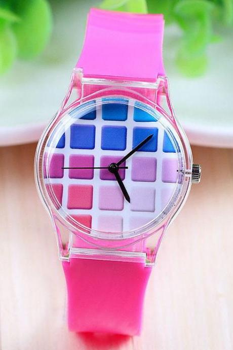 Silicone kids gift holiday girl watch