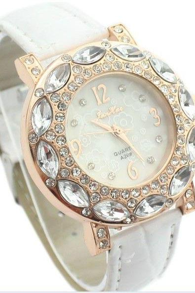 Luxury elegant rhinestones dress woman watch
