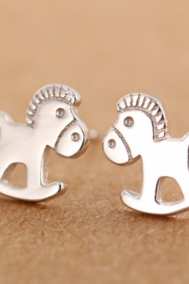 925 Sterling Silver Earrings small Trojan Fashion Earrings