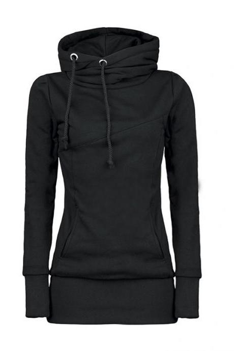 Draw String Beam Waist Korean Style Cotton Women Hoodies HG10102