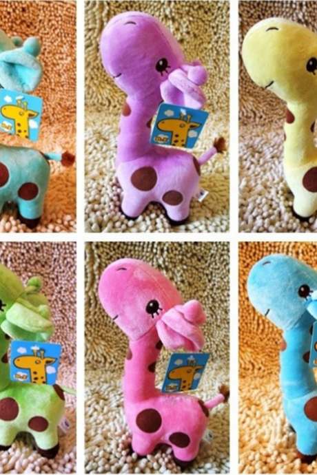 Lovely giraffe figurines Little deer plush dolls