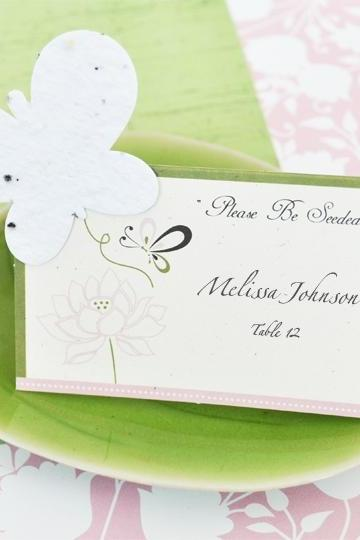 Butterfly Plant-able Seed Place Cards