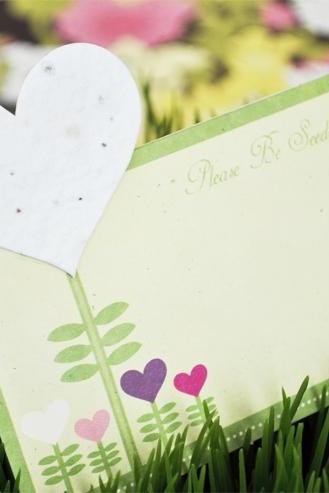 Heart Plant-able Seed Place Cards