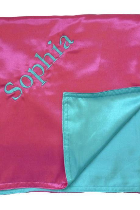Satin Baby Blanket - Embroidered and Personalized to Your Specifications