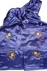Purple Large Satin Blanket Extensively Embroidered with Ballet and Personalized
