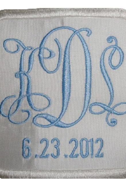 Elizabeth Silk Wedding Gown Label Custom Embroidered Personalized AND Gift Box