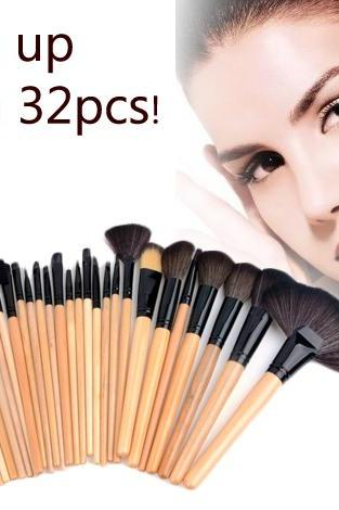 32 PCS Cosmetic Brushes Make up Kit