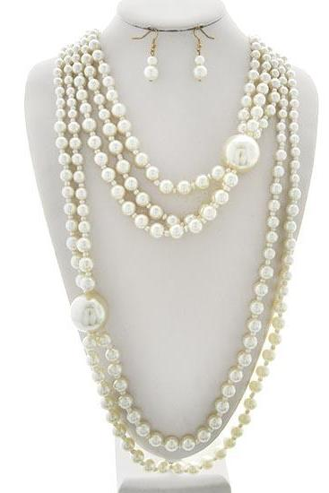 Reserved Listing, Long Pearl Necklace