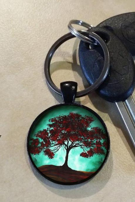 Japanese Blossom Tree Key Chain Key Ring