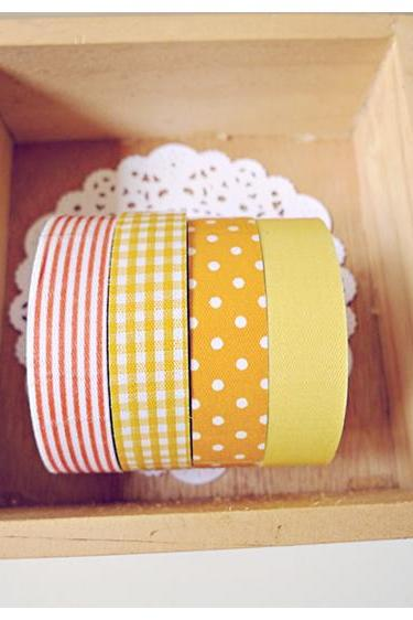 Yellow & Orange Fabric tapes