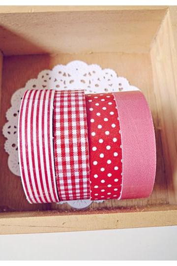 Red & Pink Fabric Tapes