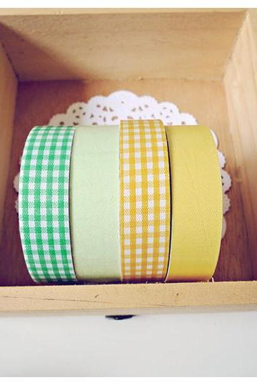 Yellow & Green Fabric tapes