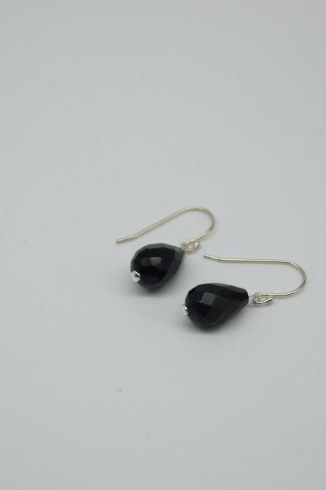 Simply earrings - Black Agate earrings - Drop earrings