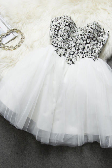 HOT SHINING RHINESTONES WITH CUTE IMAGE BITTER PRINCESS DRESS HOMECOMING DRESS