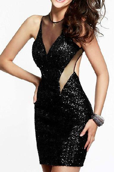Sexy sequined gauze dress XE0104CD