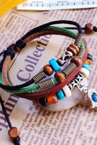 Vintage handcrafted leather bracelet