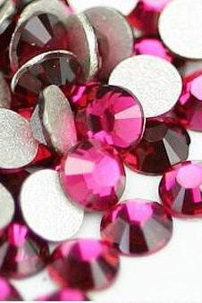 1440 pcs Crystal Rhinestones Flatback Purple Red (Fuchsia 502) SS12 (3.0mm) No Hotfix