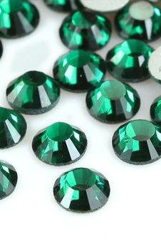 1440 pcs SS6 (2.0mm) High Quality Crystal Flatback Rhinestones - 2028 Green (Emerald 205) No Hotfix