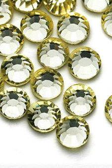1440 pcs SS8 (2.4mm) High Quality Crystal Flatback Rhinestones - 2028 Pale Yellow (Jonquil 213) No Hotfix
