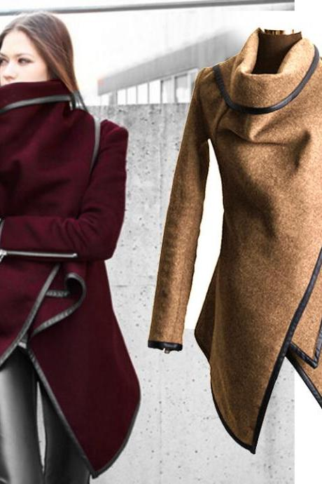 New Stylish Women's Long Sleeve Warm Thickening Casual Jacket Coat Overcoat