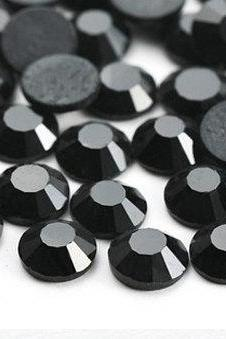 1440 pcs SS10 (2.8mm) High Quality Crystal Flatback Rhinestones - 2028 Jet Black 280 No Hotfix
