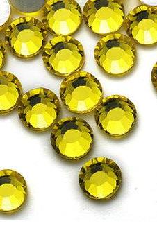 1440pcs Yellow Crystal Rhinestones Flatback - Citrine 249 SS12 (3.0mm) No Hotfix