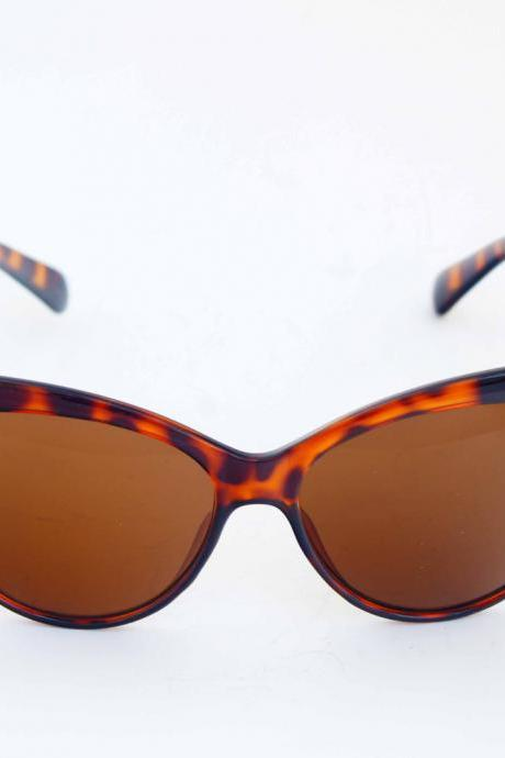 Milanblocks Beach Cat-Eye Orange Vintage UVA Protection Sunglasses