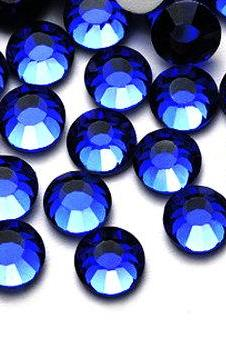 1440 pcs SS6 (2.0mm) High Quality Crystal Flatback Rhinestones - 2028 Blue (Sapphire 206) No Hotfix