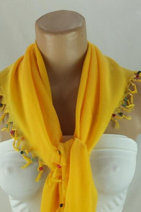 Dark yellow scarf with cyrstal beads, Square head scarf,traditional Turkish scarf shawl, Fabric shawl, Christmas gift for her,