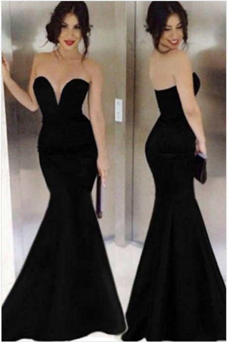 ELEGANT FASHION STRAPLESS LONG DRESS HIGH QUALITY