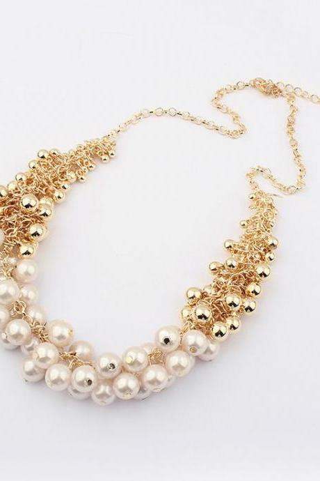 Classy imitation pearl fashion woman necklace