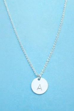 Initial, Discs, Necklace, Sterlingsilver, Necklace