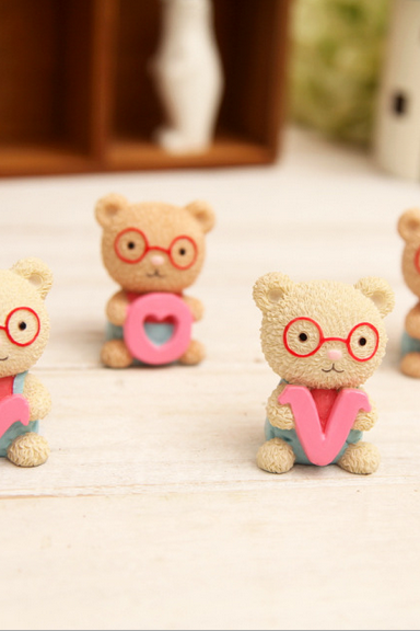 LOVE glasses bear ornaments gifts to express love special gift