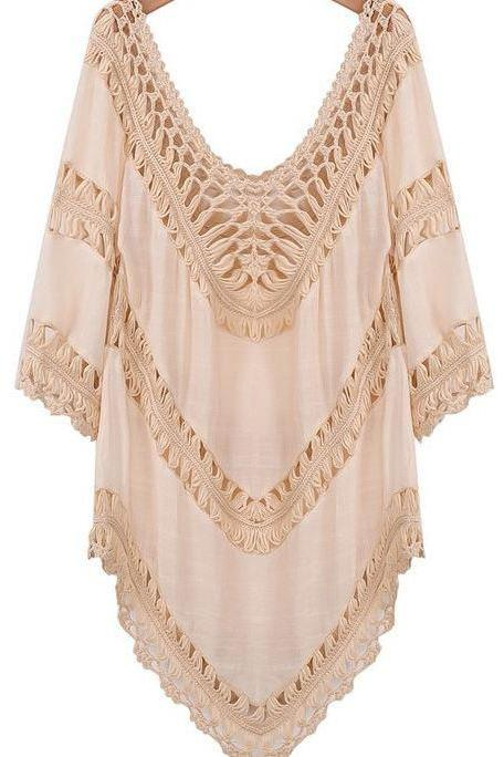 Ivory Color Pretty Cotton Cardigan Ivory tops for Women-V shape Neckline