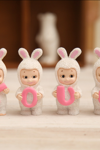 LOVE Cupid rabbit decoration action of love a special gift