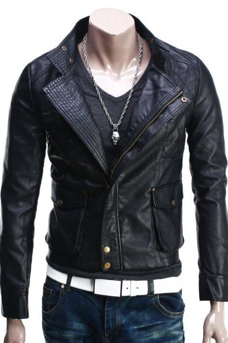Handmade Custom New Men Chic Fine Stitching Leather Jacket, men leather jacket, Leather jacket for men, Biker Leather Jacket, Motorcycle Jacket